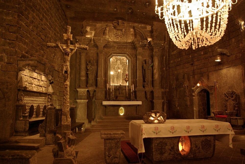 Wieliczka Salt Mine in Poland is a popular example of Underground Tourism