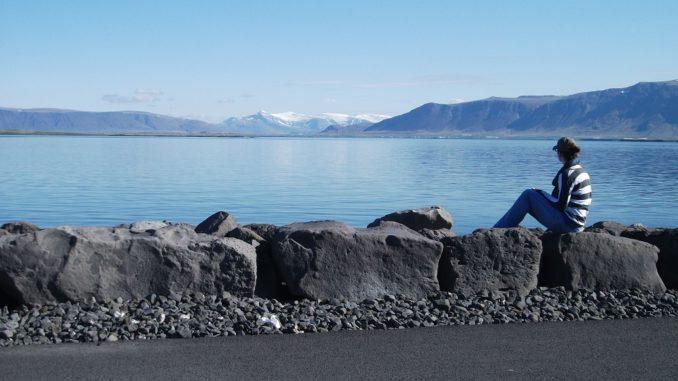 View of Mount Esja from Reykjavik, Iceland