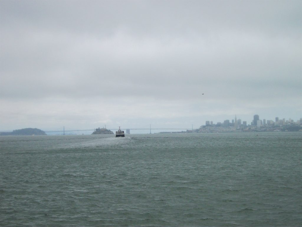 View from the Sausalito stop on the San Francisco Hop on Hop Off tour