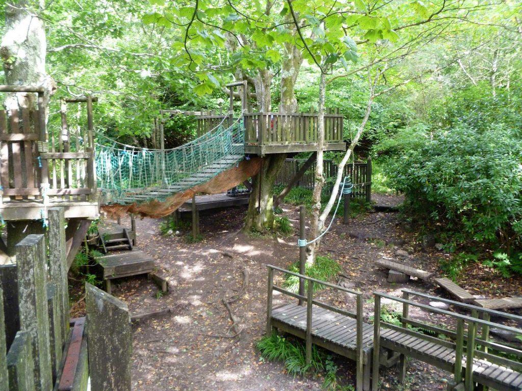 Empty adventure playground at Kelburn Estate