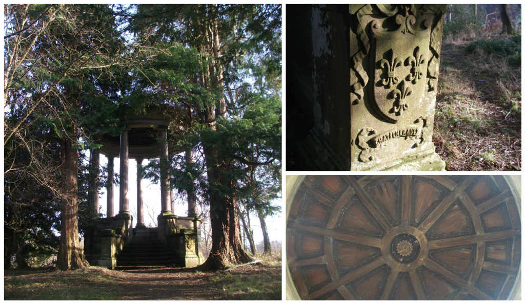 Dukes Monument can be found on the edge of Chatelherault Country Park