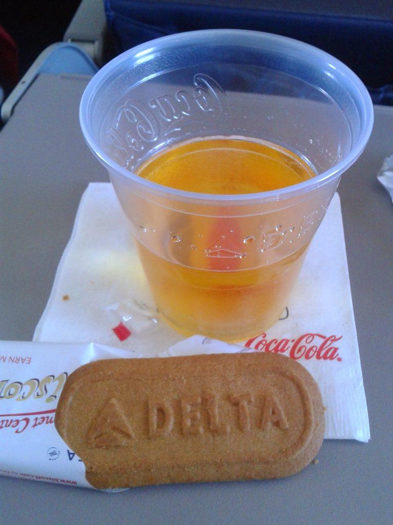 Snack on board my flight to San Francisco