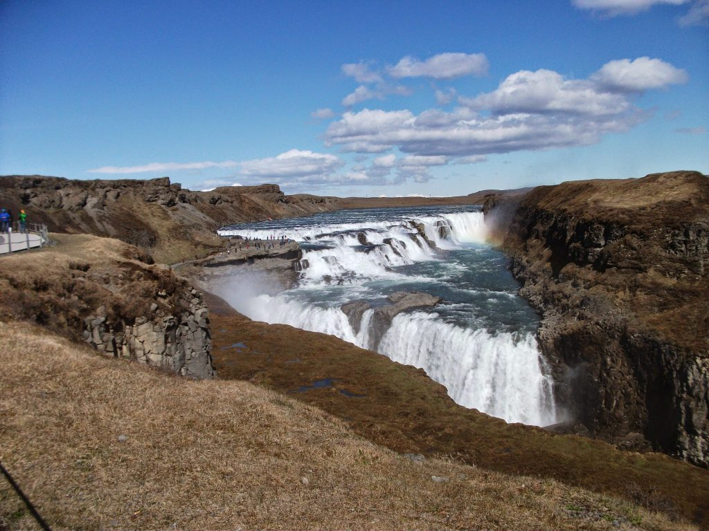 One of the main attractions on the Golden Circle Route - Gullfoss Waterfall