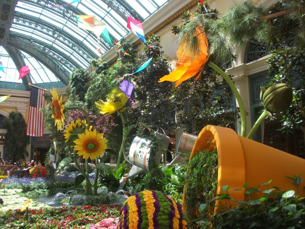Inside the Bellagio on the Las Vegas Strip