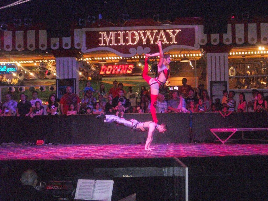 Performers at Circus Circus in Las Vegas