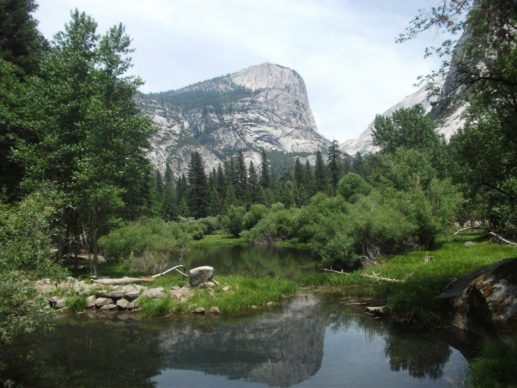 Mirror Lake reflecting Mount Watkins, Yosemite National Park