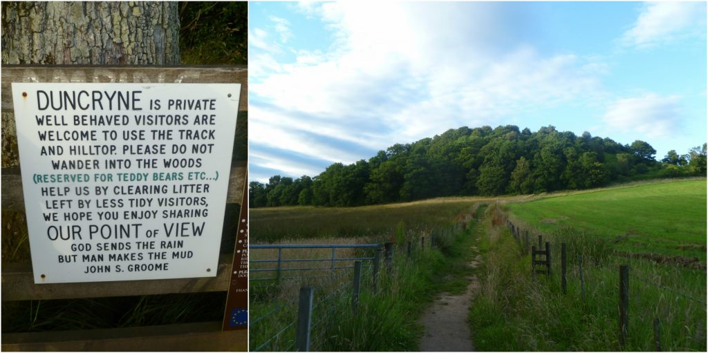 The Signs and Pathway to Duncryne Hill