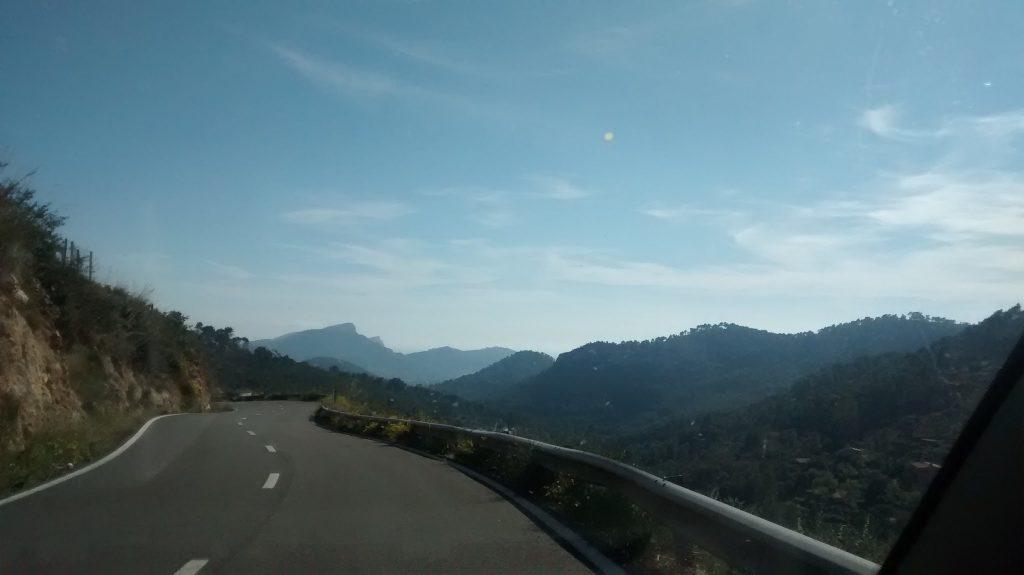 Driving in Mallorca (Majorca), Spain