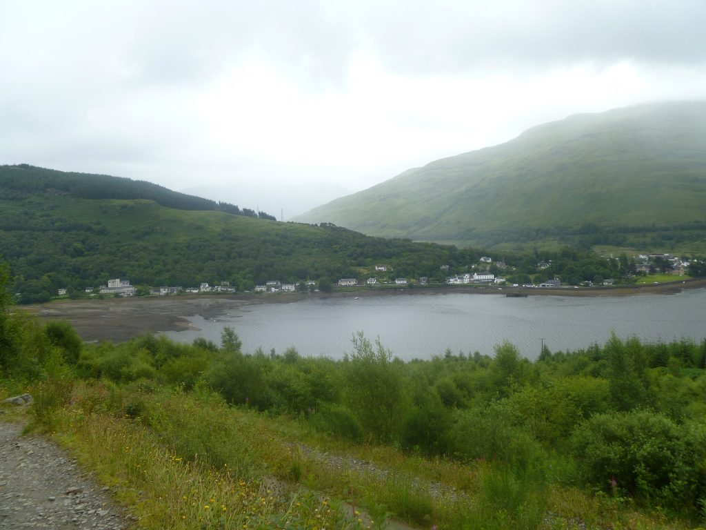 Arrochar on the edge of Loch Long from The Cobbler path