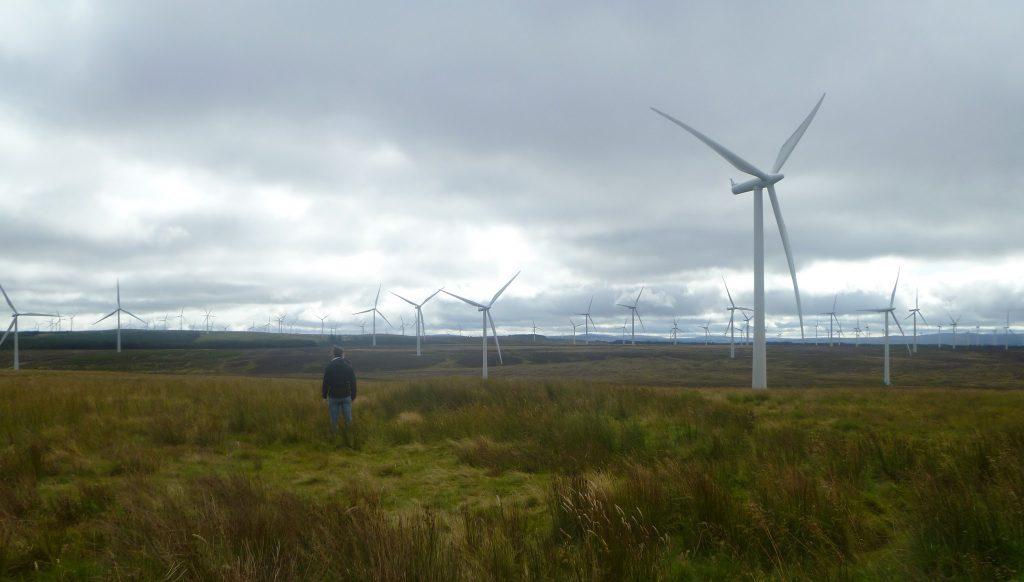 Walking at Whitelee Windfarm
