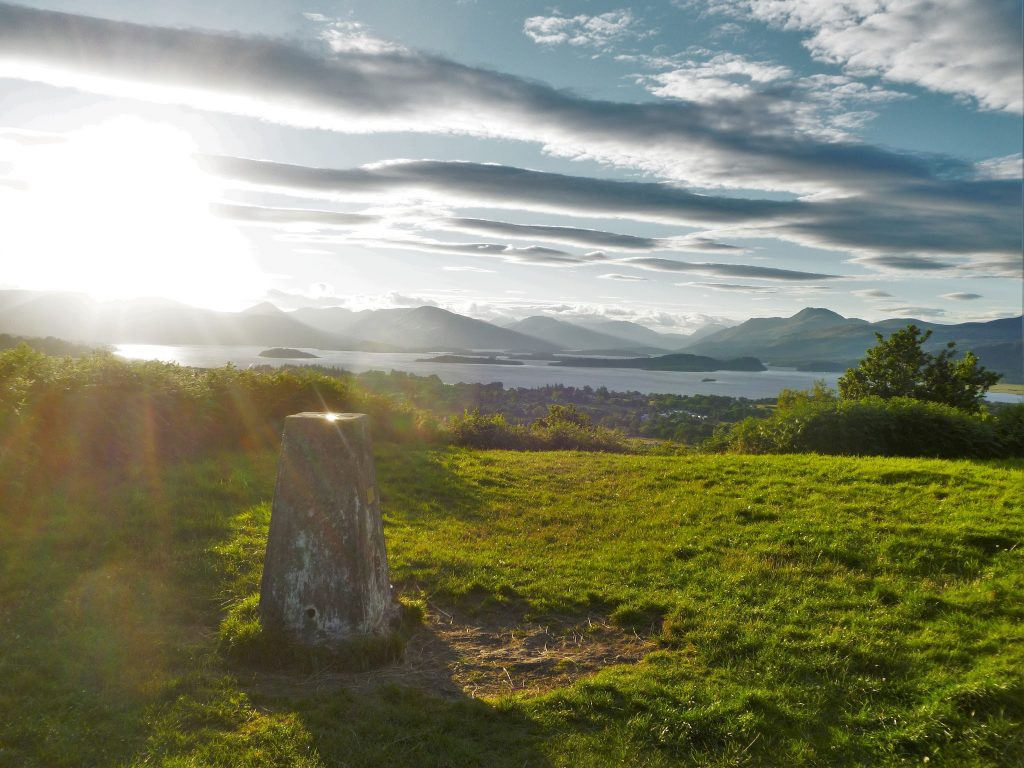 Views over Loch Lomond from the top of Duncryne Hill