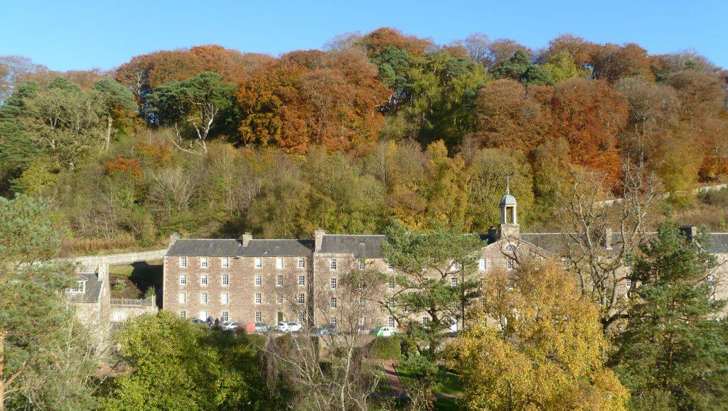 Autumn colours over New Lanark