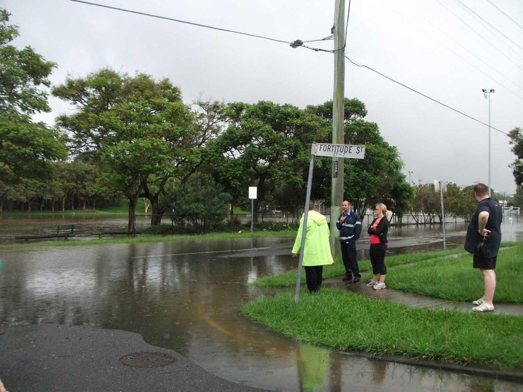 Queensland Floods - Fortitude Street Tuesday