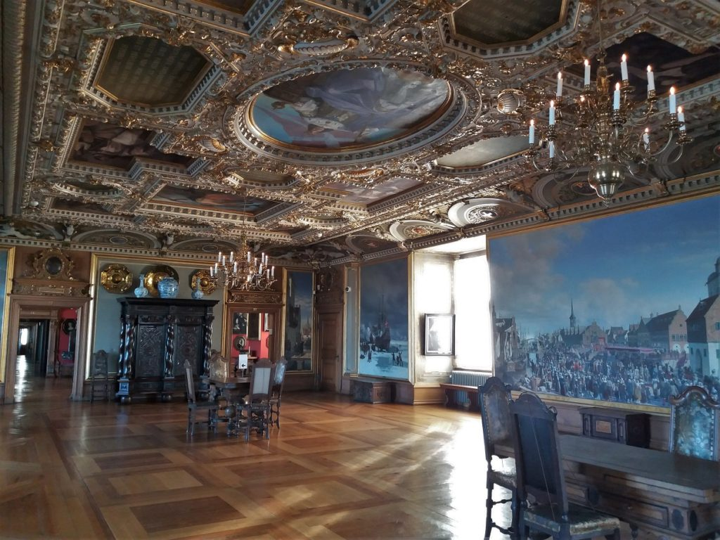 One of many rooms with Frederiksborg Castle with amazing ceilings