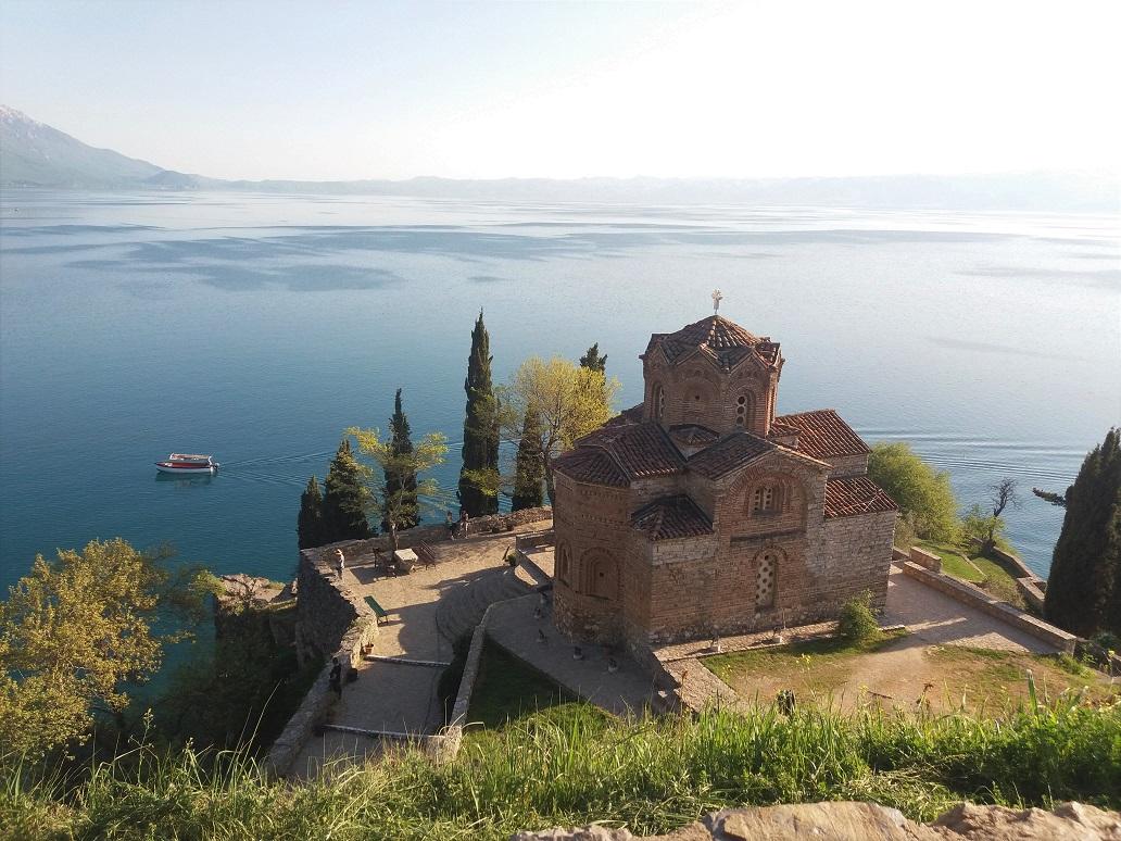 Sveti Jovan or St John of Kaneo in Ohrid, Macedonia
