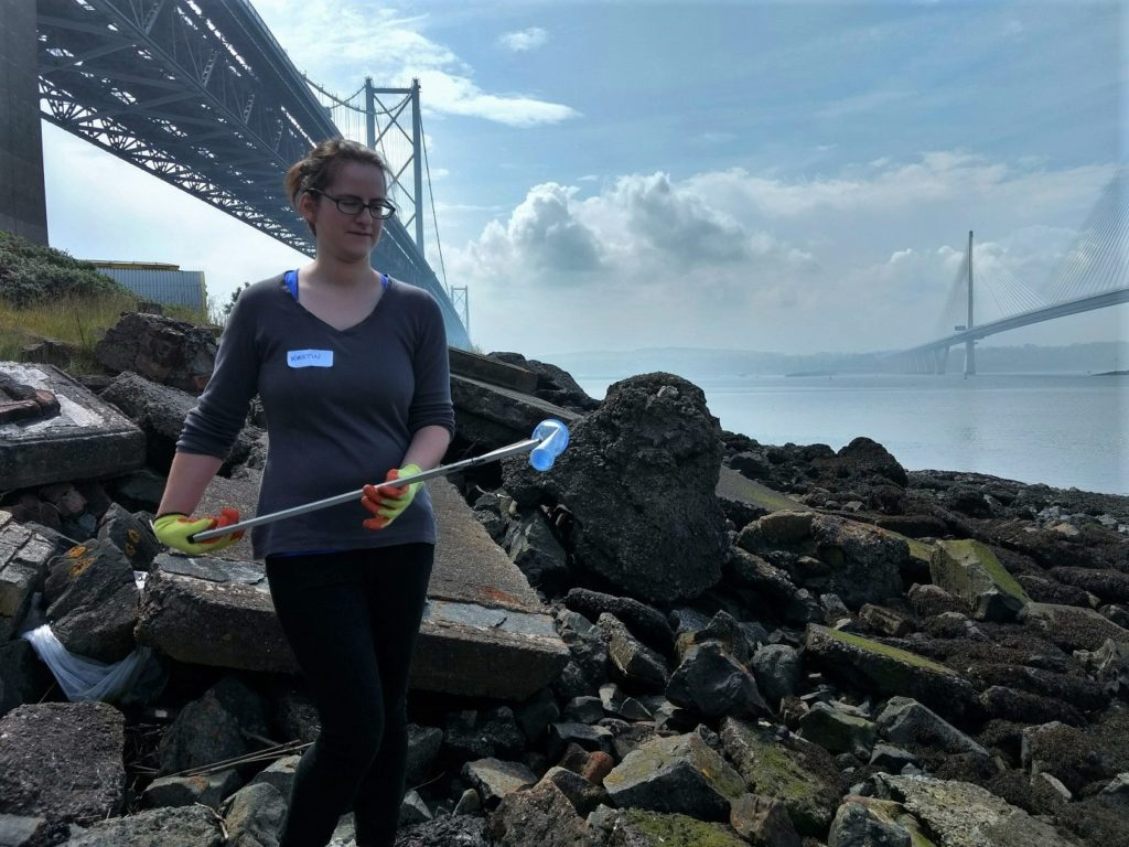 tinberry travels at the Shore You Care plastic event North Queensferry